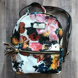 BEBE Floral Mini Faux Leather Studded Backpack